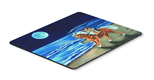 Caroline's Treasures Corgi Beach Ride on Horse Mouse Pad/Hot Pad/Trivet (7318MP) ()