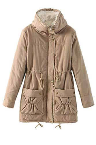 Di Inverno Calda Giacche Casual Manica Lunga Fashion Collo Invernale Cappotto Outdoor Marca Eleganti Parka Khaki Bolawoo Coreana Outerwear Sciolto Addensare Mode Donna Giaccone Tlc3F1KJ