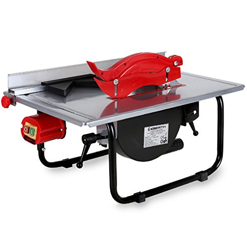 EBERTH Electric Bench Table Saw (Saw Blade Ø 200 mm, Swivable up to 45°,...