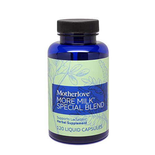 Motherlove More Milk Special Blend Herbal Breastfeeding Supplement with Goat's Rue for Lactation Support, 120 Liquid Capsules