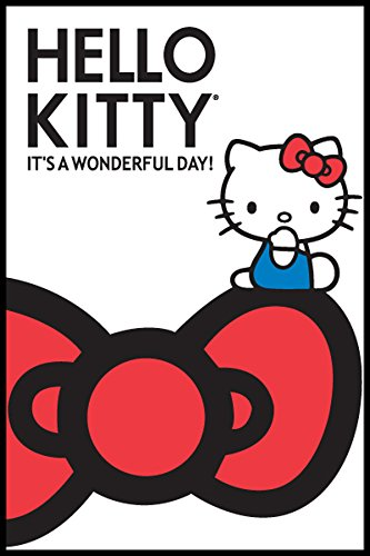 Hello Kitty Wonderful Day Animation Cartoon Character Poster