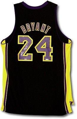 82dfb8a52ecb Kobe Bryant Signed Autographed Lakers  quot Hollywood Nights quot   24  Jersey 8 50