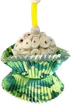 Bonka Bird Toys Smiley Heart Camo Cup Cake Foraging Parrot cage Cockatiel African Grey
