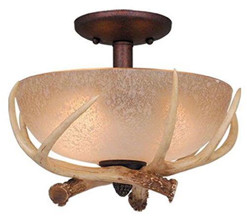 Vaxcel LK33012WP-C Lodge 12-1/2-Inch Light Kit, Weathered Patina, (Mount Ceiling Fixture Weathered Patina)