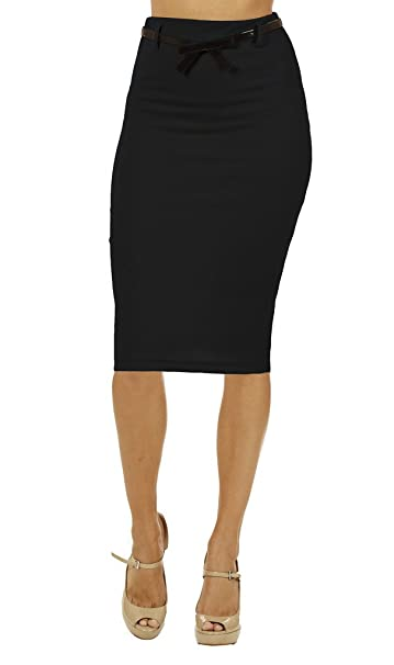 8907d28ed060 Dinamit Jeans Women's High Waist Below Knee Pencil Skirt: Amazon.ca:  Clothing & Accessories
