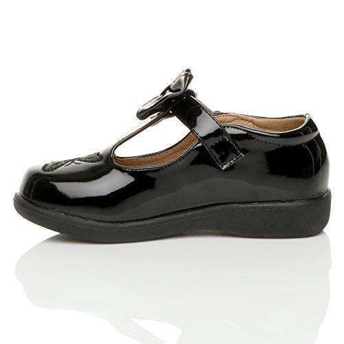 Mädchen Kleine Absatz T-Riemen Schmetterling Elegant Fesch Schuhe Größe 2 bKKcI5ue