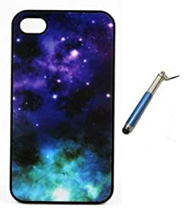 Starry Night Galaxy Stars plastic design hard case skin cover for iPhone 4 4s
