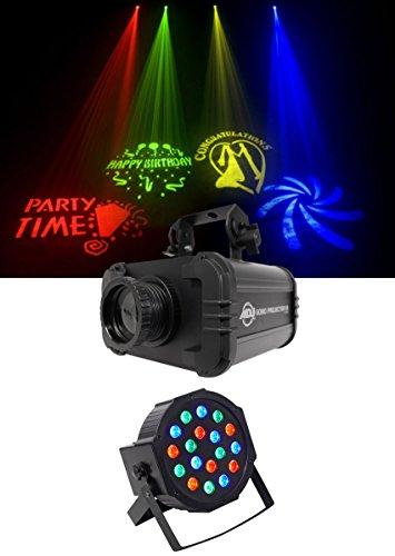 American DJ ADJ GOBO PROJECTOR IR LED Light w/ 4 Colors+4 Patterns+Wash Light ()