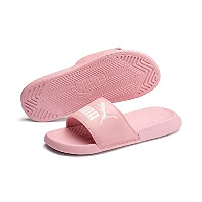 Puma Popcat Unisex Fashion Sandals, Bridal Rose-Pastel Parchment, 7 US
