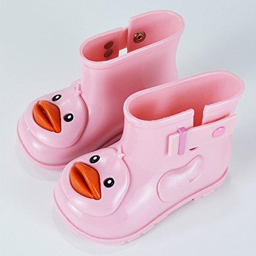 Baby Regenstiefel Cartoon Kinderstiefel Boots Kuschelige Jungen Mädchen Kinder Gummistiefel Rain Pink Kurzschaft Stiefel Wasserdicht Enten 8YIn1