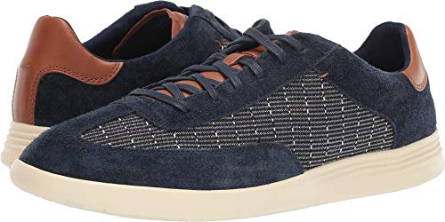 Cole Haan Men's Grand Crosscourt Turf Sneaker Indigo Print/Curds and Whey 12 D - Leather Print Sneakers