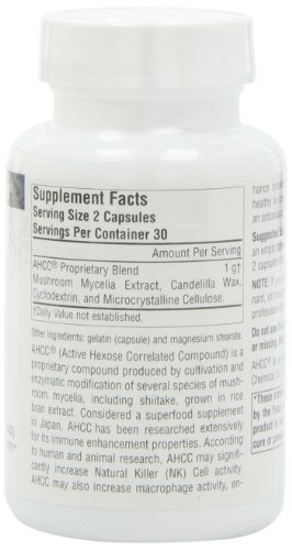 SOURCE NATURALS Ahcc Active Hexose Correlated Compound 500 Mg Capsule, 60 Count by Source Naturals (Image #4)