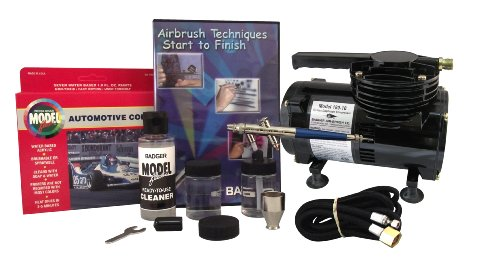 - Badger Air-Brush Co. 314-HBWC Basic Hobby System with Compressor