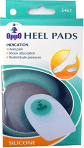 Oppo Silicone Gel Heel Pads with Cushion, Medium [5463] 1 Pair (Pack of 7)