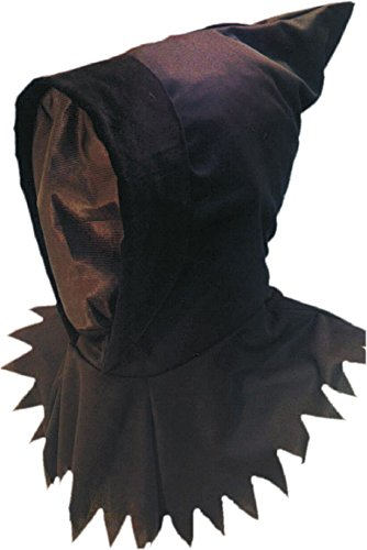 Smiffy's Unisex Ghoul Hood & Mask, Black, One Size, 98152 (Ghoul Masks Halloween)