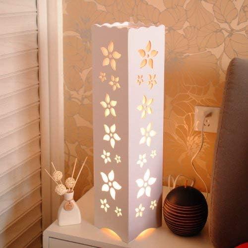 FJFLDD 現代のミニマリストのクリエイティブリビングベッドルームスタディルーム白色LED中空彫刻フロアランプ14 * 14 * 60センチメートル ` L8D1D6
