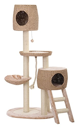 CO-OP - PetPals  Multi-Level Paper Rope, Fleece and Sisal Fun Zone with Stairs and Two Hiding Condos