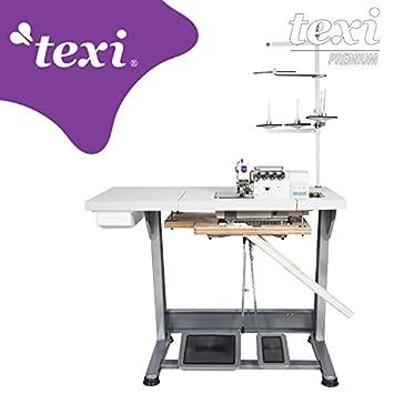 TEXI Overlock la Industria Máquina de Coser - 4 Hilos 2 Agujas - con Integrado Servomotor - Completo (con Mesa y Estructura): Amazon.es: Juguetes y juegos