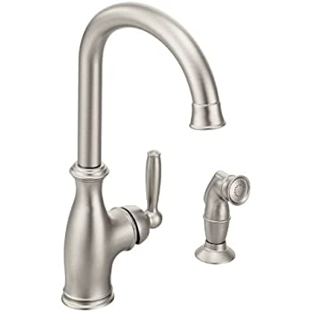 Moen 7790srs Arbor One Handle High Arc Kitchen Faucet With