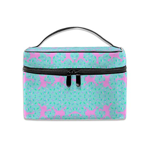 Dkhh Cartwheeling Forever Fabric (3300) Travel Makeup Bag Cosmetic Cases Organizer Portable Storage Bag for Cosmetics Makeup Brushes Toiletry Travel Accessories