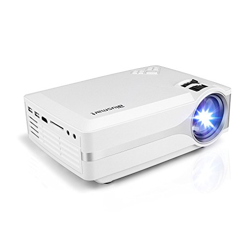 Projector, Blusmart LED-9 Home Video Projector, Multimedia Home Theater Projector Support 1080P HDMI USB SD Card VGA AV for Home Cinema TV Laptop Game iPhone Andriod Smartphone with Free HDMI Cable