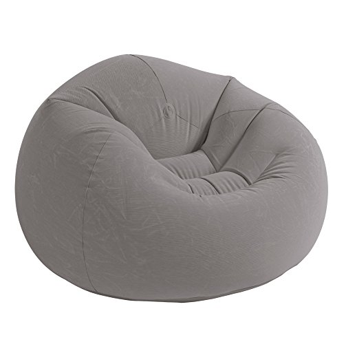 "Intex Beanless Bag Inflatable Chair, 42"" X 41"" X 27"", Grey 1-Pc"