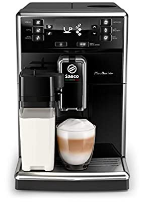 Saeco super-automatic espresso coffee machine with an adjustable grinder, milk frother, maker for brewing espresso, cappuccino, latte PicoBaristo SM5460/10
