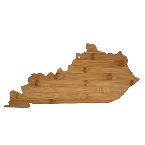 Totally Bamboo Kentucky State Shaped Bamboo Serving and Cutting Board