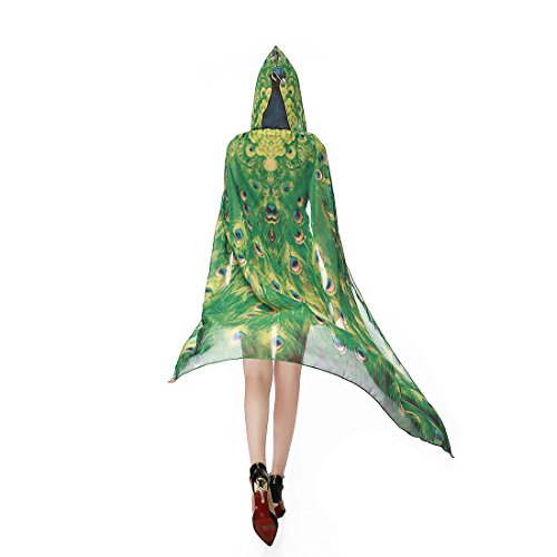 Ryshman Party Costume, Soft Fabric Butterfly Wings Shawl Fairy Pixie Accessory (Peacock)]()