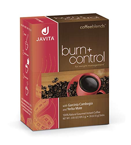 Burn + Control Coffee, Premium, 100% South American Arabica, Robusta Coffee w/Weight Loss Herbs Garcinia Cambogia for Appetite Control Yerba Mate for Improved Metabolism, Javita 24 Ct, Keto*