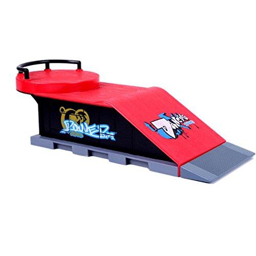 GreenSun TM Skate Park Ramp Parts for Tech Deck Fingerboard Finger Board D Kids Skate Park Plastic ABS Skate Park Game Toy by GreenSun