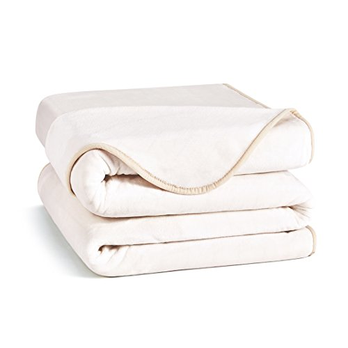 Blanket Fleece Silky (Charm Heart Luxury Fleece Blanket,Throw Size Lightweight Silky Super Soft Summer Cooling Cozy Flannel Warm Plush All-Season Anti-Static Bed Couch Sofa Blanket(Throw,Ivory))