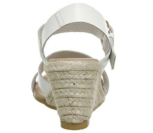Office Espadrille Wedge White Leather Mangoes rrvw5qAz