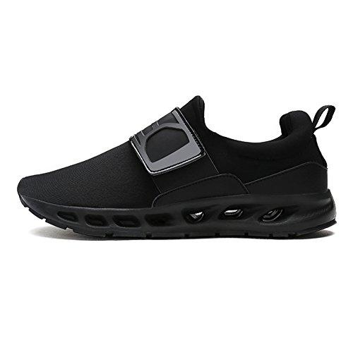 Leider Show Herenmode Elastische Comfortabele Sneaker Casual Sport Wandelschoenen Alle Zwart