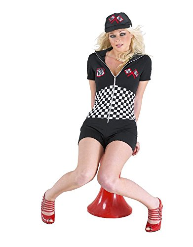 Girl Costume Pit (Women's Roleplay Costume Nascar Racing Pit Stop Girl (Sizes S-XL) Sexy)