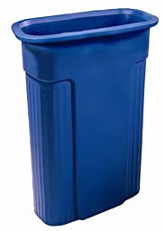 Toter 0REC21-R1BLU Slimline Rectangular Recycling Can with Universal Recycle Symbol, 23-Gallon, Blue