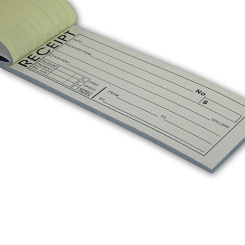 5 Pack Rent Receipt Book With Carbon Copy Duplicate 2 par...