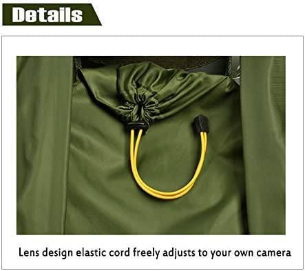 Housse de Protection Contre la Pluie pour Appareil Photo Canon Nikon et Autres appareils Photo Reflex num/ériques Vert arm/ée