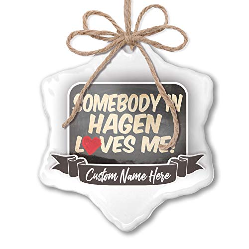 NEONBLOND Create Your Ornament Somebody in Hagen Loves me, Germany Personalized