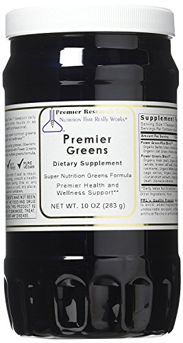 Premier Greens, 30oz Powder, Vegan Product, Gluten-free - Super Nutrition Greens Formula with Power Grass-Plus Blend By Premier Research Labs by Quantum / Premier Research