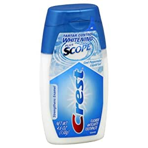 Crest Complete Plus Scope Liquid Gel Toothpaste - Minty Fresh 4.6 Oz