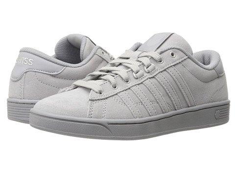 (ケースイス) K-Swiss レディーススニーカー?ウォーキングシューズ?靴 Hoke Suede CMF Gull Gray/Silver Sconce 7.5 24.5cm B - Medium [並行輸入品]
