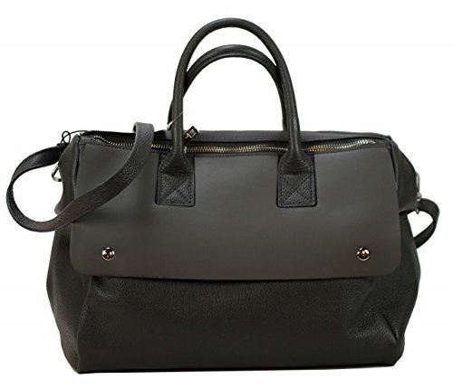 af47936d04753 Bozana Bag Amy grau Italy Designer Messenger Damen Handtasche Ledertasche  Schultertasche Tasche Leder Shopper Neu