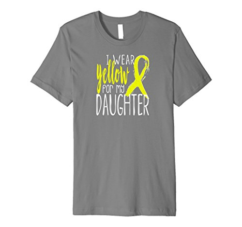 Mens I Wear Yellow Ribbon For My DAUGHTER Awareness Shirt Medium - Alveolar Bone