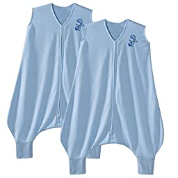 Halo Early Walker Medium Lightweight Polyester Knit SleepSack, 2 Pack - Blue Gecko