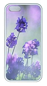 Landscape Romantic Purple Lavender - iPhone 5S Case Funny Lovely Best Cool Customize White Cover