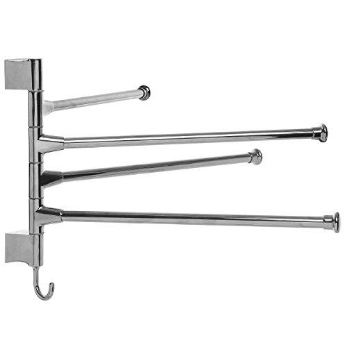 Kitchen Hand Towel Hooks: Modern Wall Mounted Stainless Steel Bathroom Adjustable
