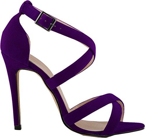 Salabobo - Zapatos con tacón mujer morado
