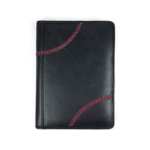Portfolio Baseball - Rawlings Unisex Baseball Stitch Mini Portfolio, Black, OS