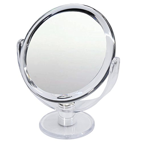 Mirror 1x and 10x Magnification ,Makeup Mirror, Two-Sided Mirror With Stand